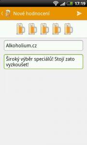 Aplikace Pivovary - Ohodnoťte pivovar
