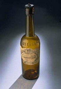 Láhev od bourbonu z 19. století