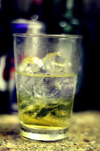 Energetický nápoj s vodkou