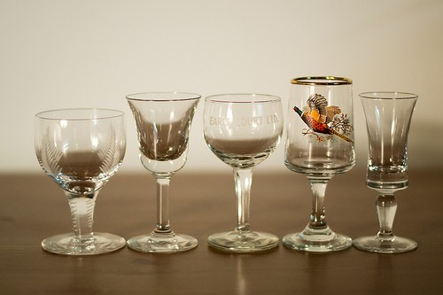 Sklenky na sherry nebo portské