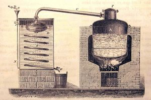 Historie destilace alkoholu
