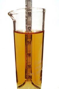 Měření stupňovitosti mladiny hustoměrem
