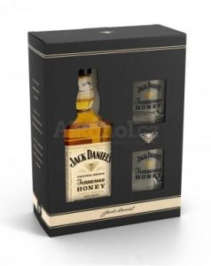 dárek Jack Daniel's Honey 0,7l 35% + 2x sklo GB