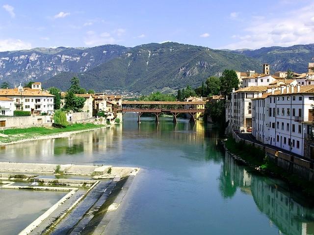 Italské městečko Bassano Del Grappa