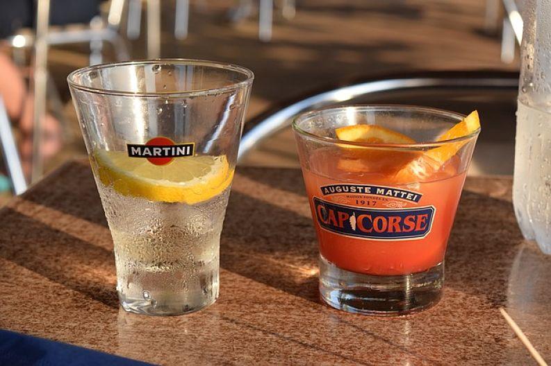 martini, jako tradiční aperitiv